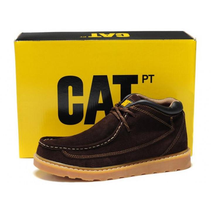 Демисезонные ботинки CAT без меха brown